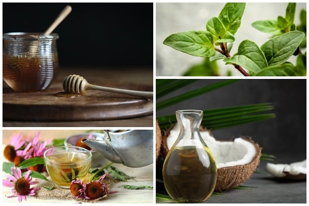 мед манука, риган,ехинацея,кокосово масло