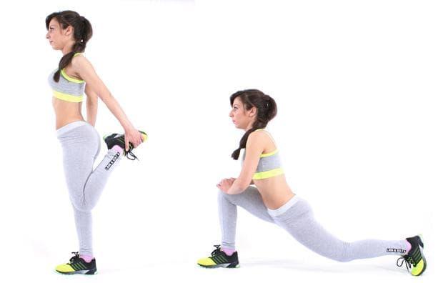 Стречинг за предната група мускули на бедрата