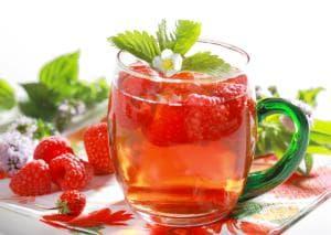Студен чай листа от малина