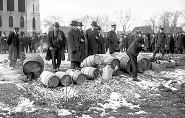 Унищожаване на алкохола от властите