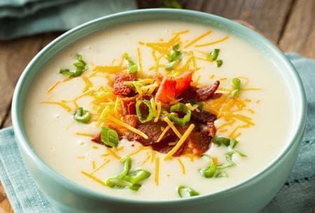 супа от печени картофи със сметана