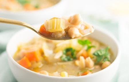 супа с нахут, лимони и паста орзо