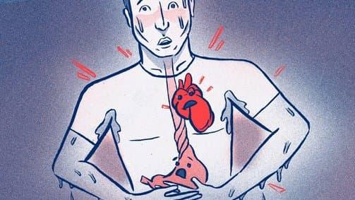 сърцебиене и разстроен стомах