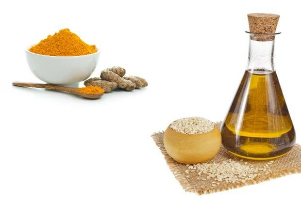 Куркума и сусамово масло