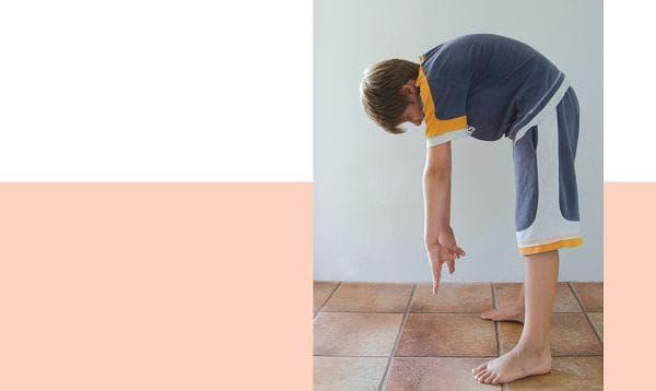 сутрешна гимнастика за деца - наклони напред