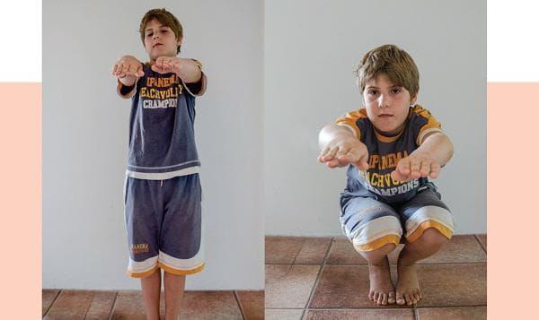 сутрешна гимнастика за деца - клекове