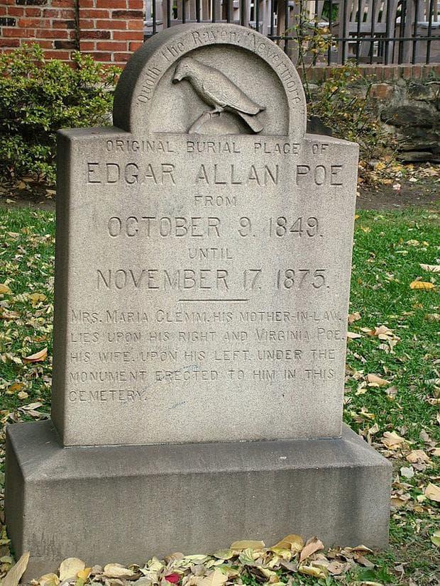 гробът на Едгар Алан По