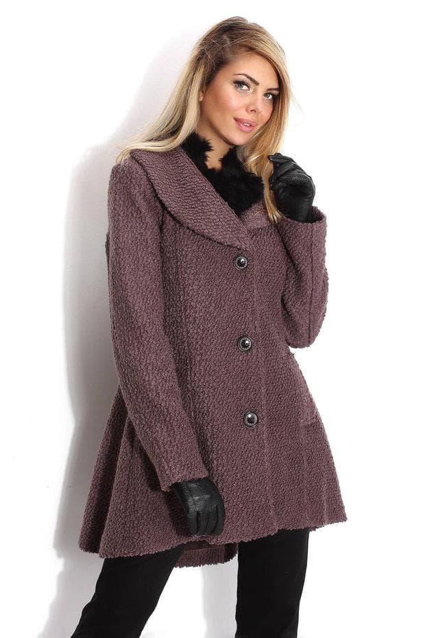 лилаво палто