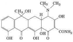 Тетрациклин - молекула