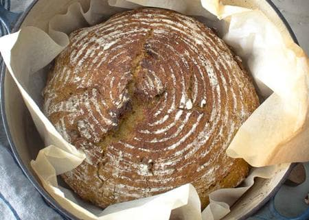 тиквен хляб с мед и орехи