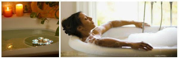 Топли вани за подобряване на настроението