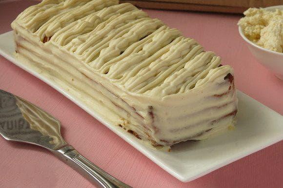 Царевичен кекс с крем от сирене