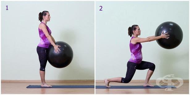 Упражнение за бременни с топка 14