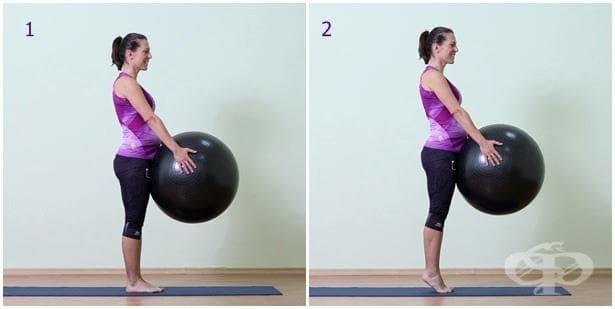 Упражнение за бременни с топка 15
