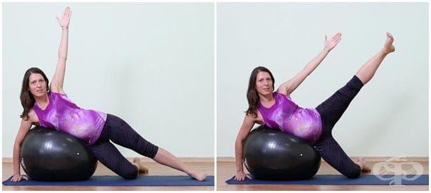 Упражнение за бременни с топка 2