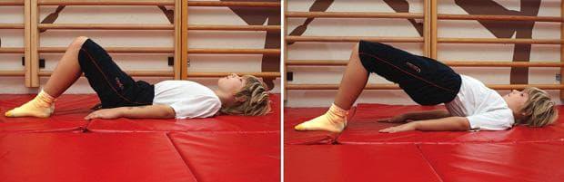 Упражнение при кифоза - повдигане на таза