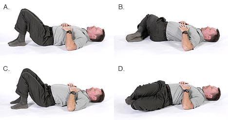 Завъртане на тялото и наклони на коленете