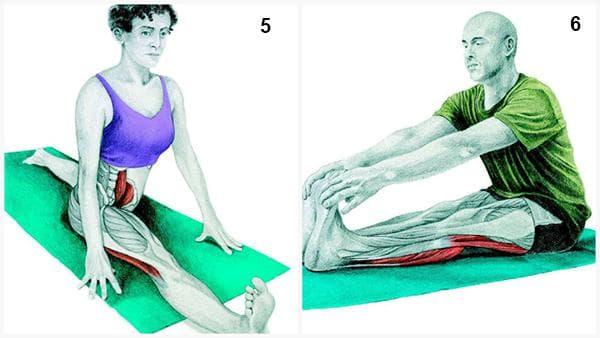 Шпагат и наклон на тялото напред