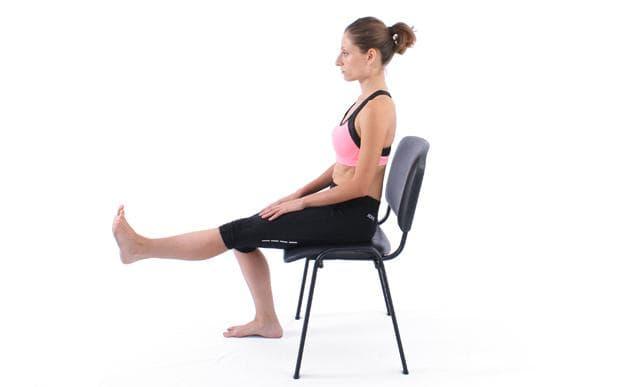 разгъване на крак от седеж