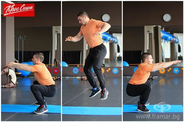 Клек и скок със завъртане на 180 градуса