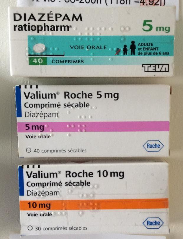 Опаковки на Валиум и диазепам