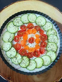 киш със зеленчуци