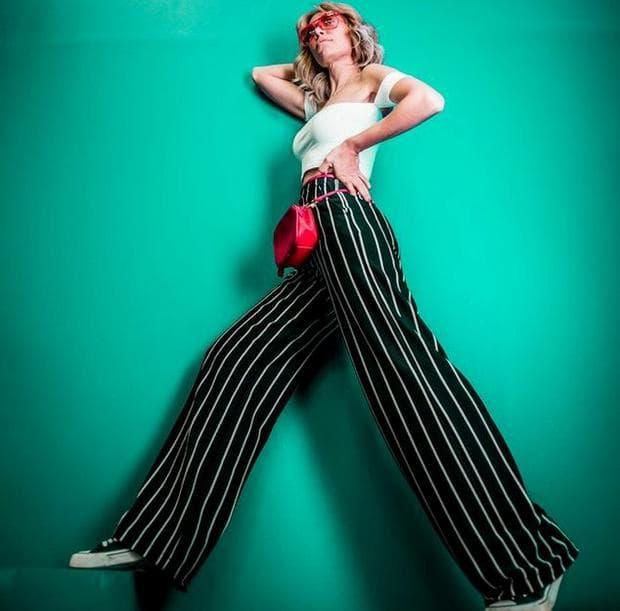 Панталон с вертикални райета