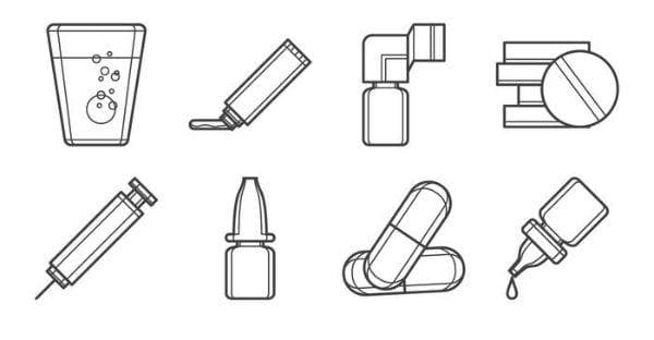 Видове лекарствени форми според начина на приложение