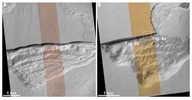 Лед на Марс