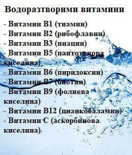 водоразтворими витамини