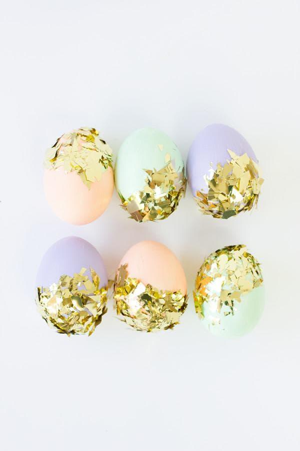 Яйца с конфети