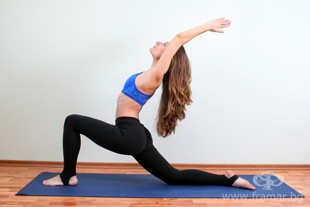 йога поза анджанейасана