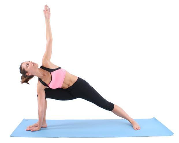 Йога поза издължен страничен ъгъл