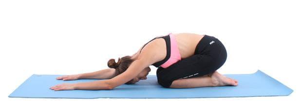детска поза йога