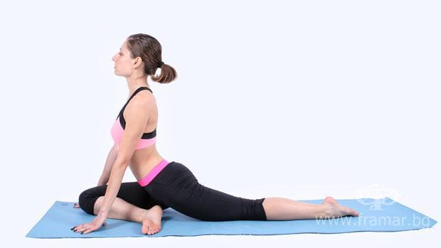 йога поза гълъб