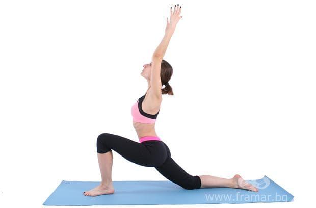 йога поза нисък напад