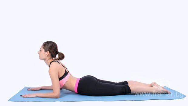 йога поза сфинкс