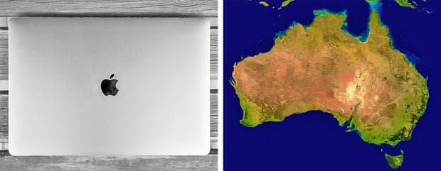 Австралия и лаптоп
