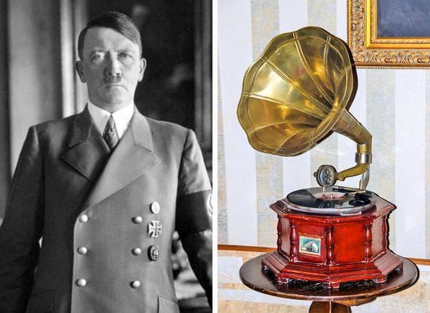 Адолф Хитлер и грамофон