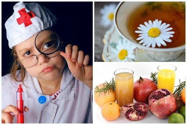 дете, чай лайка,плодови сокове