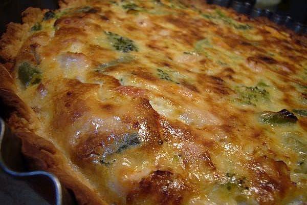 зеленчуков киш с пилешко и бекон