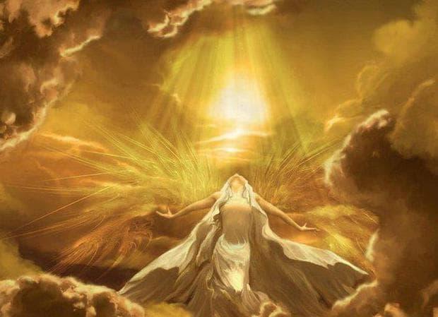 медитация и златна светлина