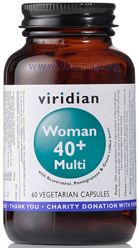 1d456033155 ФОРМУЛА ЗА ЖЕНИ 40+ капсули * 60 VIRIDIAN (WOMEN 40+ MULTI capsules ...