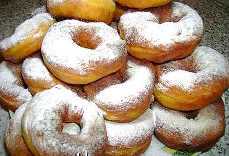 Пончики из тыквы рецепт с фото