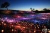 Арт инсталация Поле от светлина освети Калифорнийските хълмове