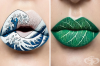 Гримьор превръща устните си в зашеметяващи произведения на изкуството