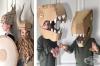 Майка изработва костюми и маски от картон за децата си. Вижте едни от най-сполучливите й творби