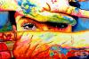 Сляп художник използва допир и текстура, за да създаде невероятно цветни картини