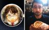 Барист рисува реалистични портрети на известни личности върху кафе