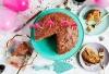 Празнична торта с фъстъчено масло и крем кафе